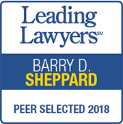 Leading Lawyers | BARRY D. SHEPPARD | PEER SELECTED 2018