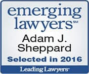 Leading Lawyers | Emerging Lawyers Adam J. Sheppard Selected in 2016